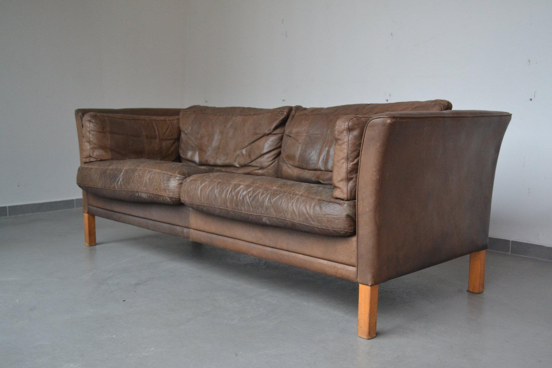Braunes 3 sitzer sofa von mogens hansen 1960er bei pamono for Sofa 7 sitzer