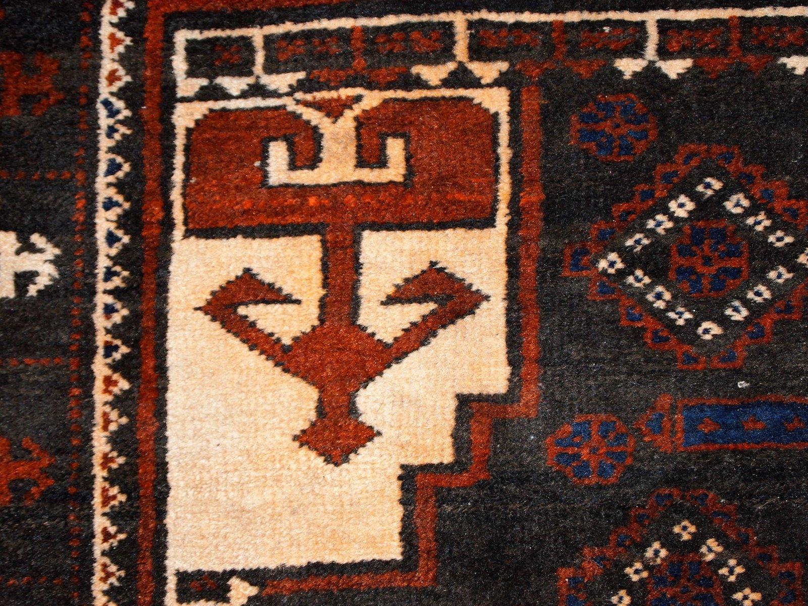 Vintage Handmade Afghan Baluch Rug 1940s For Sale At Pamono