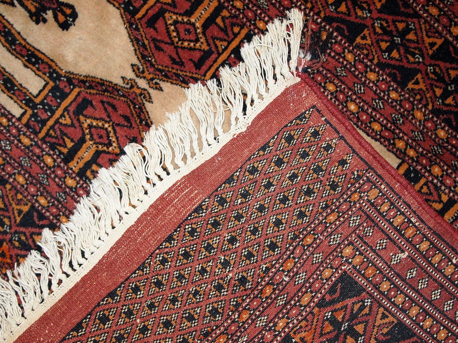 tapis turkm ne fait la main vintage 1950s en vente sur pamono. Black Bedroom Furniture Sets. Home Design Ideas