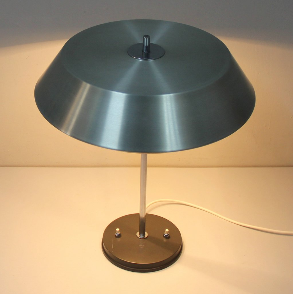 Vintage Chromed & Lacquered Table Lamp by Louis Kalff for ...