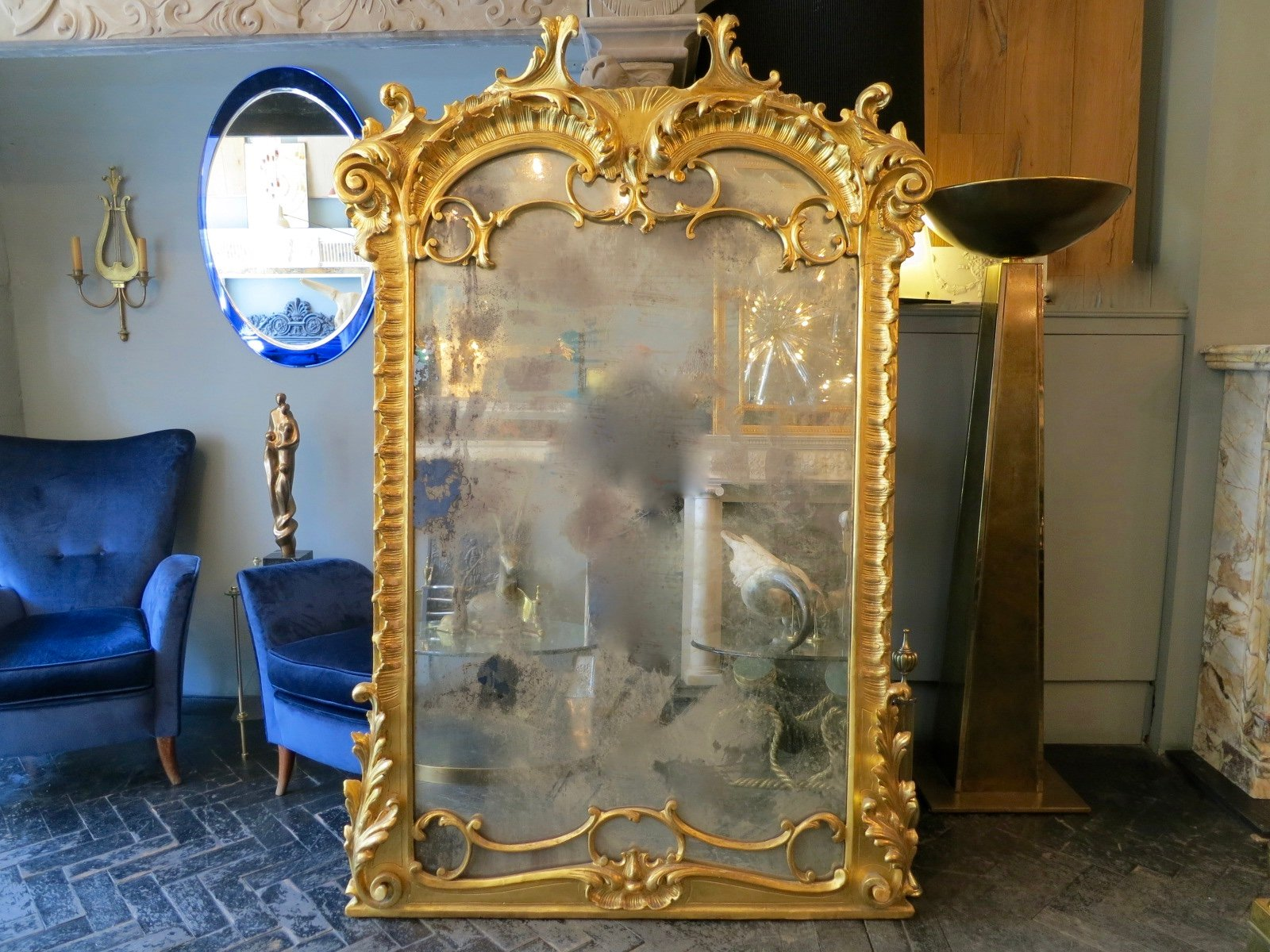 grand miroir n o baroque en vente sur pamono. Black Bedroom Furniture Sets. Home Design Ideas