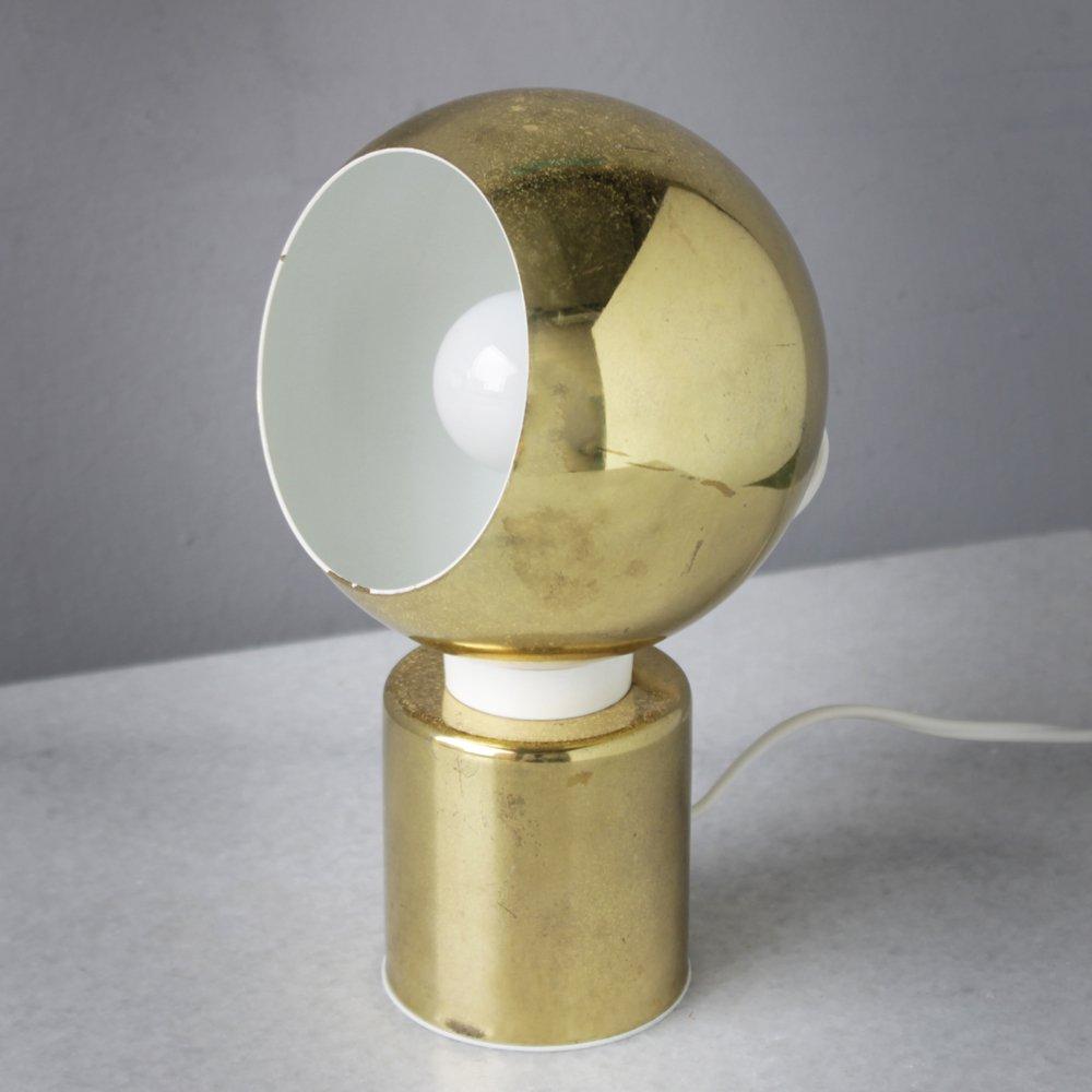 Magnetische Vintage Messing Kugelleuchten von Reggiani, 3er Set   Lampen > Tischleuchten > Kugelleuchten   Gold   Reggiani