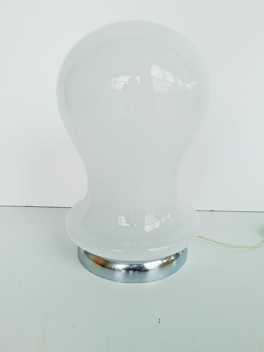 Murano Glas & Chrom Tischlampe, 1970er