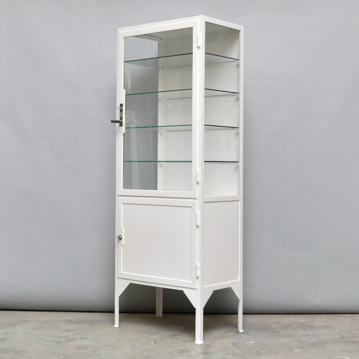 Beau Steel U0026 Glass Medicine Cabinet, 1940s