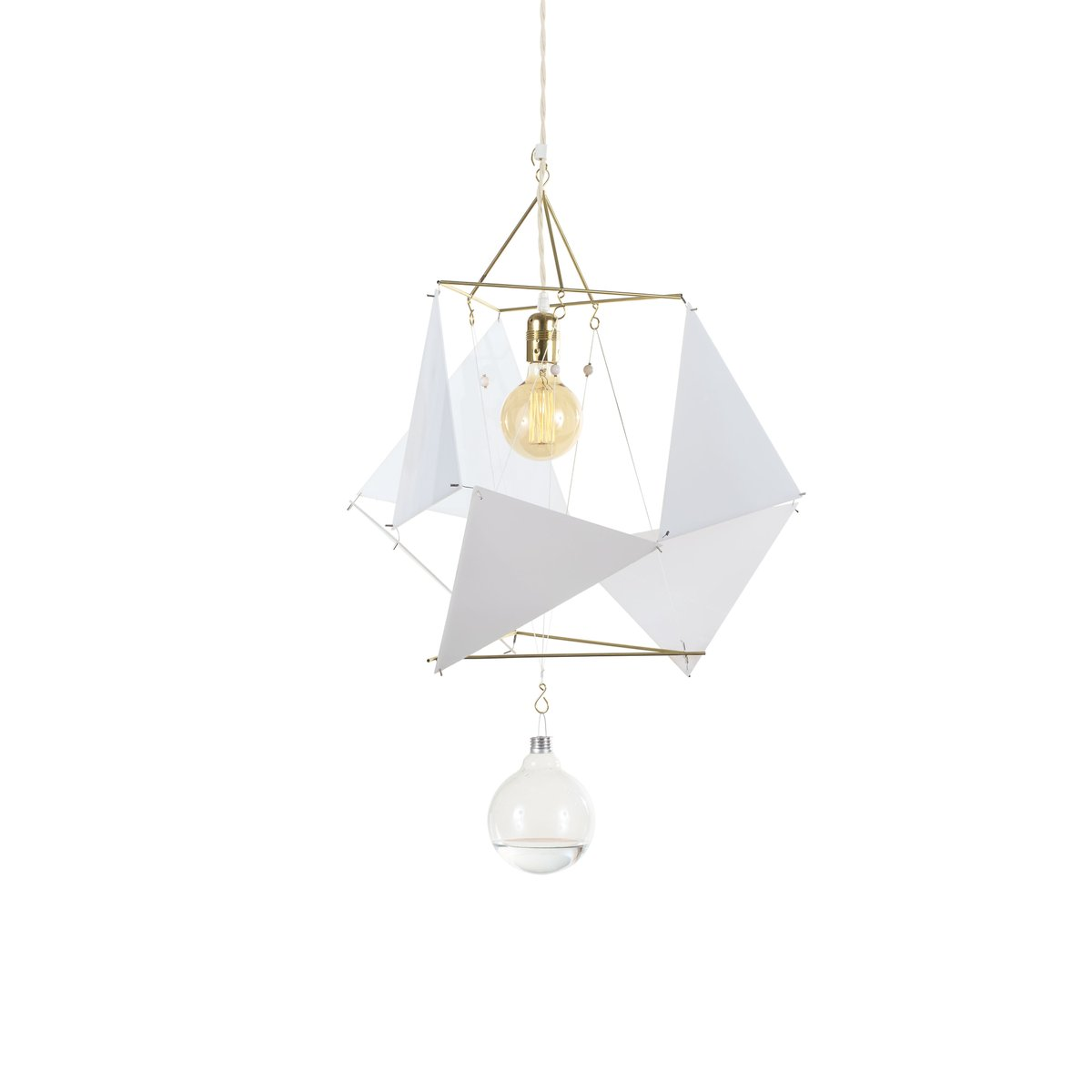Modulare Vector Equilibrium PMMA Lampe von Nicolas Brevers für Gobo Li...