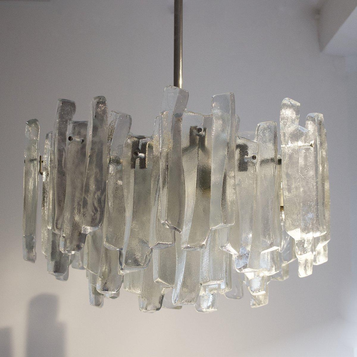 chandelier fuente en verre de kalmar en vente sur pamono. Black Bedroom Furniture Sets. Home Design Ideas