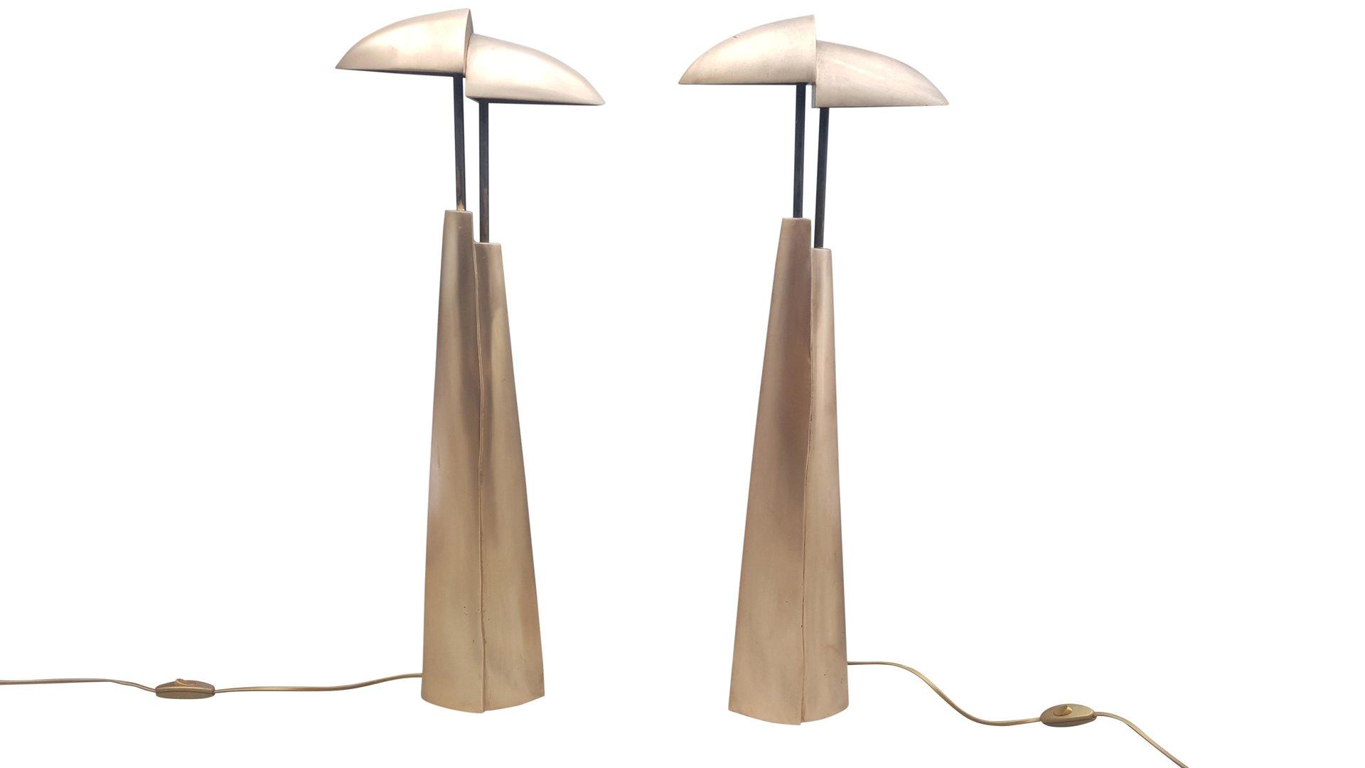 mid century modern bronze tischlampen 2er set bei pamono kaufen. Black Bedroom Furniture Sets. Home Design Ideas