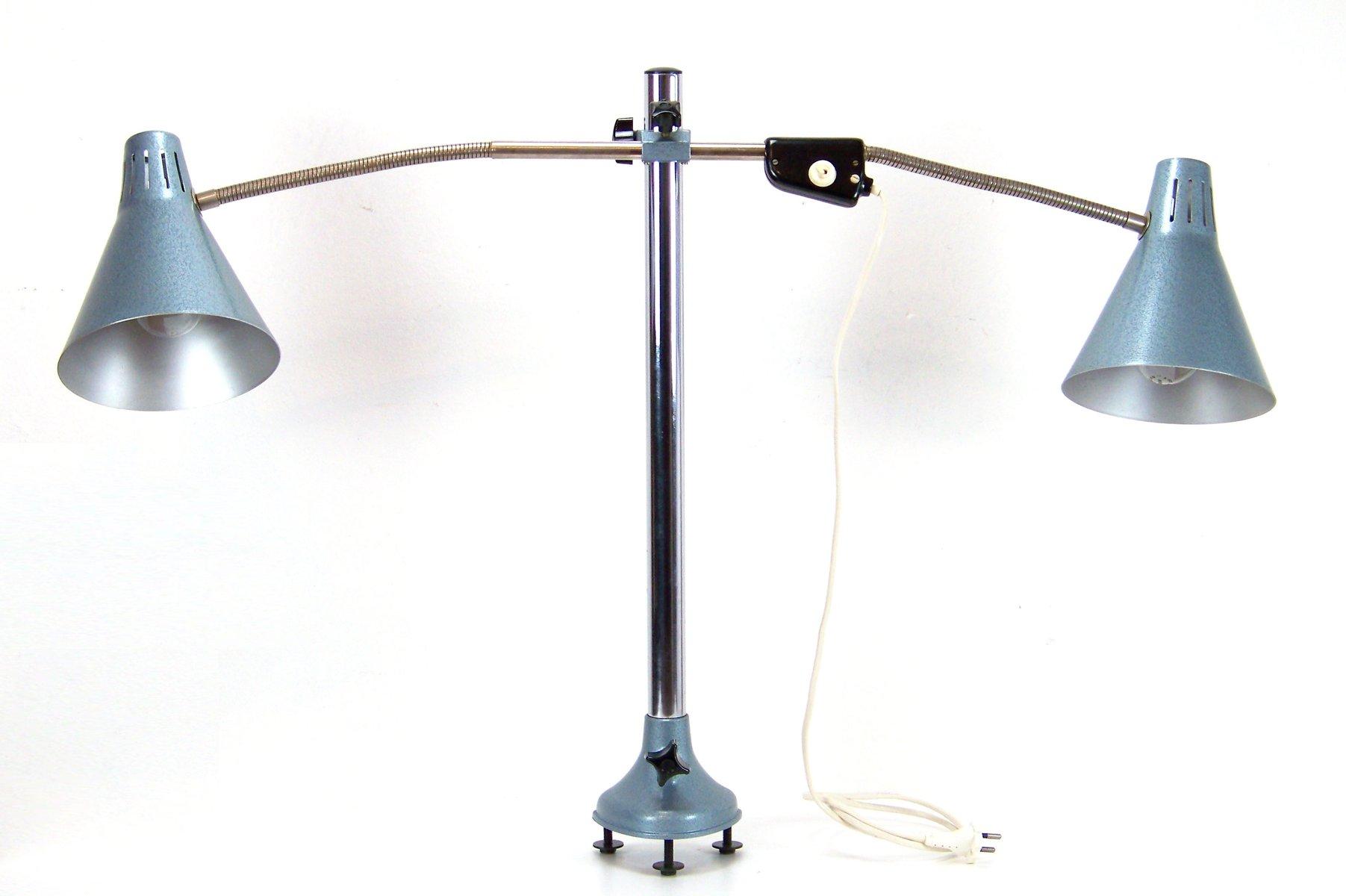 Tschechoslowakische Schreibtischlampe für Doppelpult, 1970er