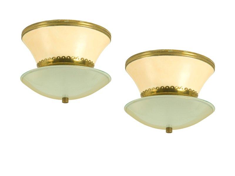 italienische deckenlampen von stilnovo 1940er 2er set bei pamono kaufen. Black Bedroom Furniture Sets. Home Design Ideas