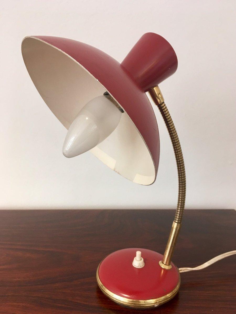 Rote Vintage Wand- und Tischlampen von AJH, 2er Set