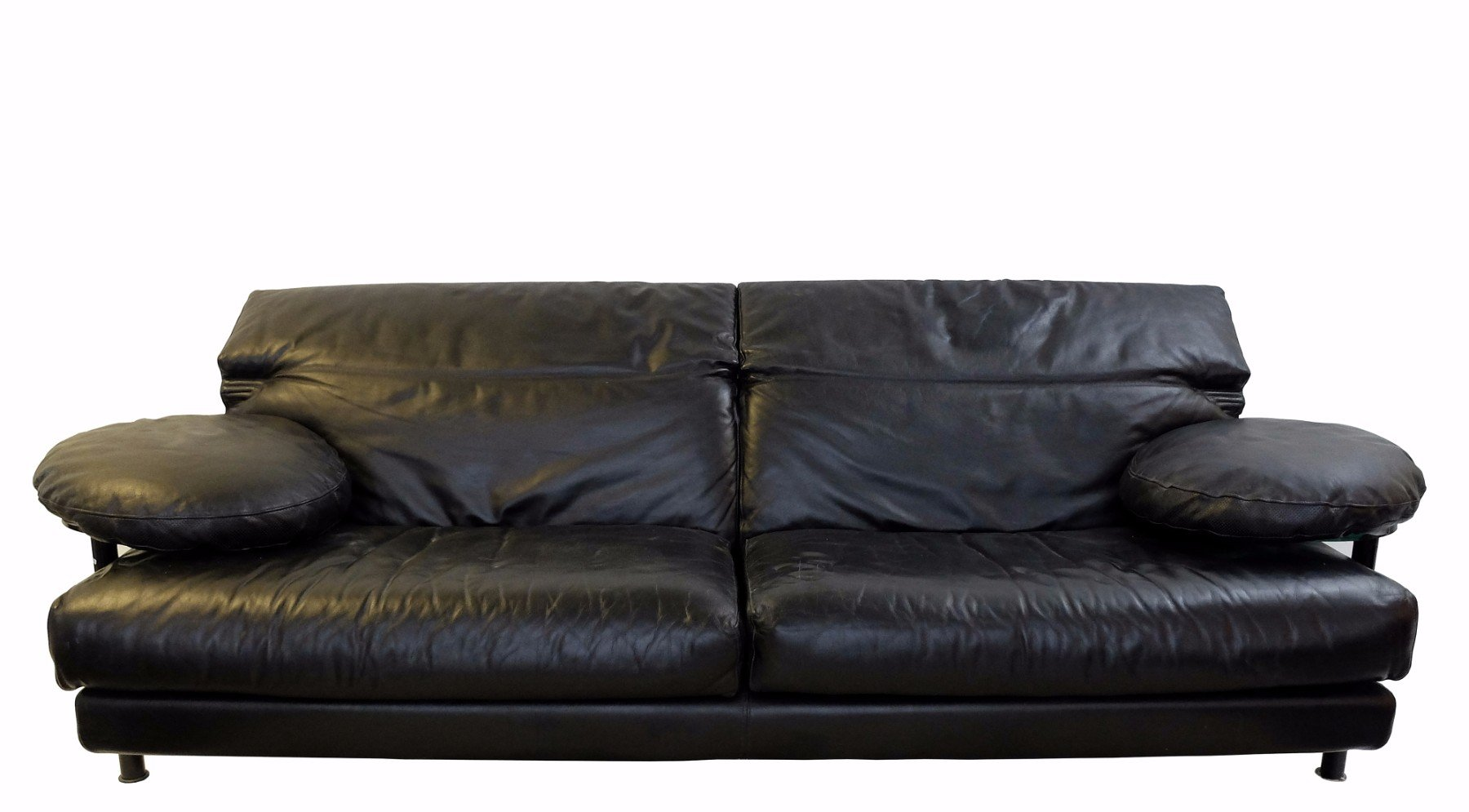 Black Leather Couches To Vintage Arca Black Leather Sofa By Paolo Piva For Bu0026b Italia