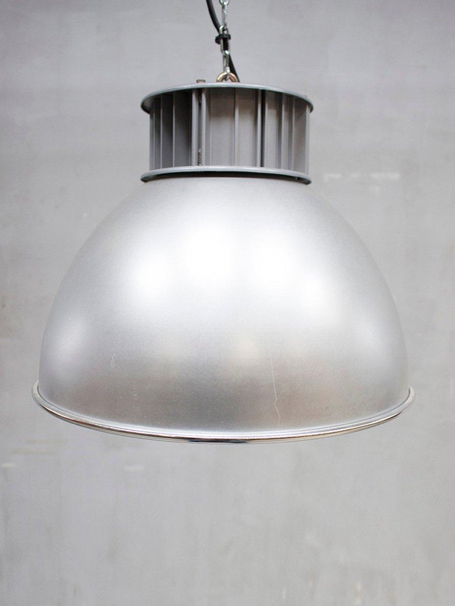 Industrielle Vintage Aluminium Hängelampe von AEG