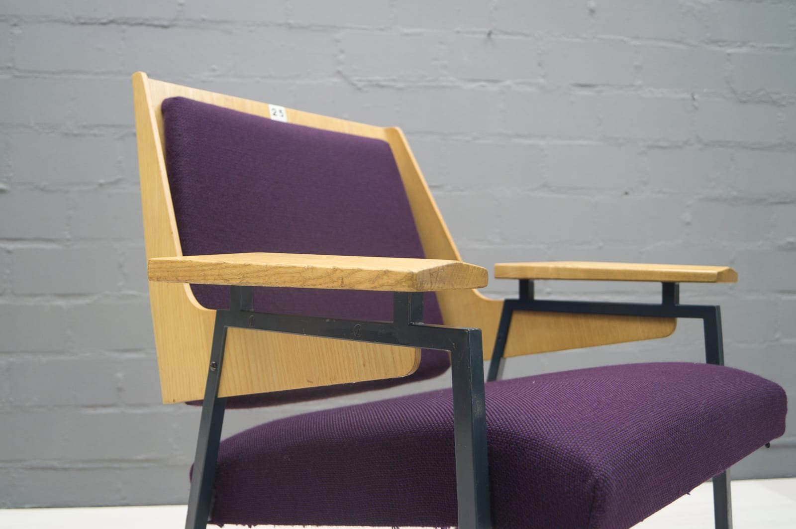 Mid Century Purple Armchair By Wunibald Puchner For The Meistersingerhalle  Nürnberg, 1958