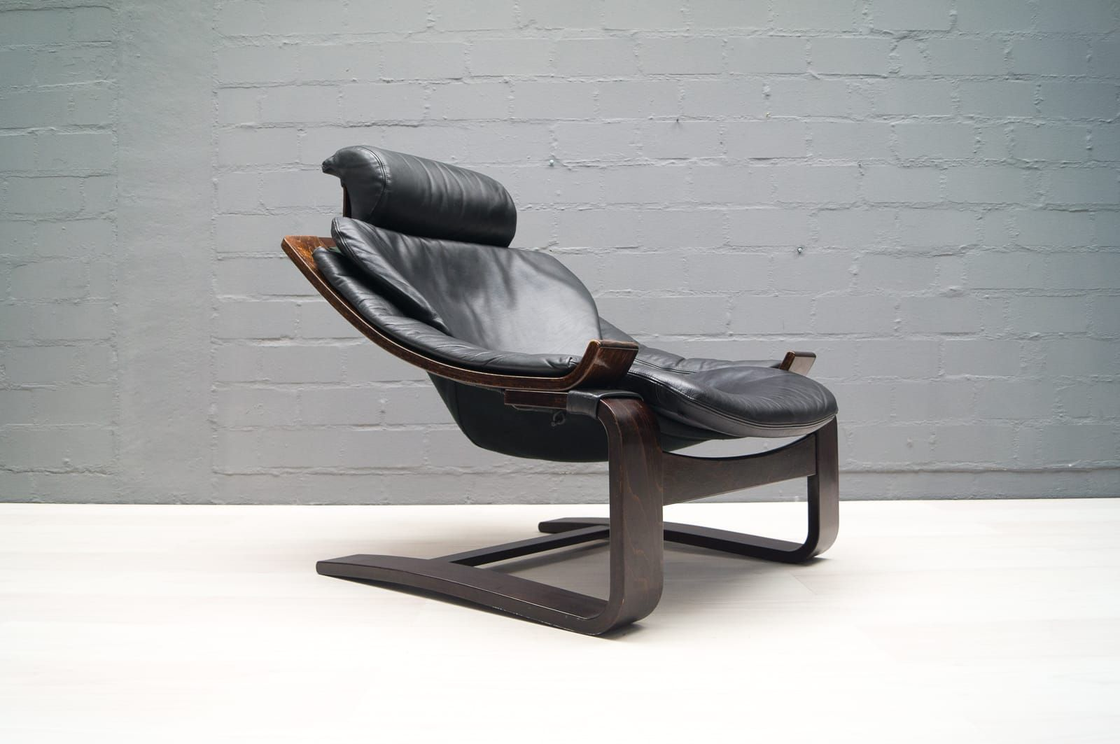 vintage leder armlehnstuhl von ke fribytter f r nelo m bel bei pamono kaufen. Black Bedroom Furniture Sets. Home Design Ideas