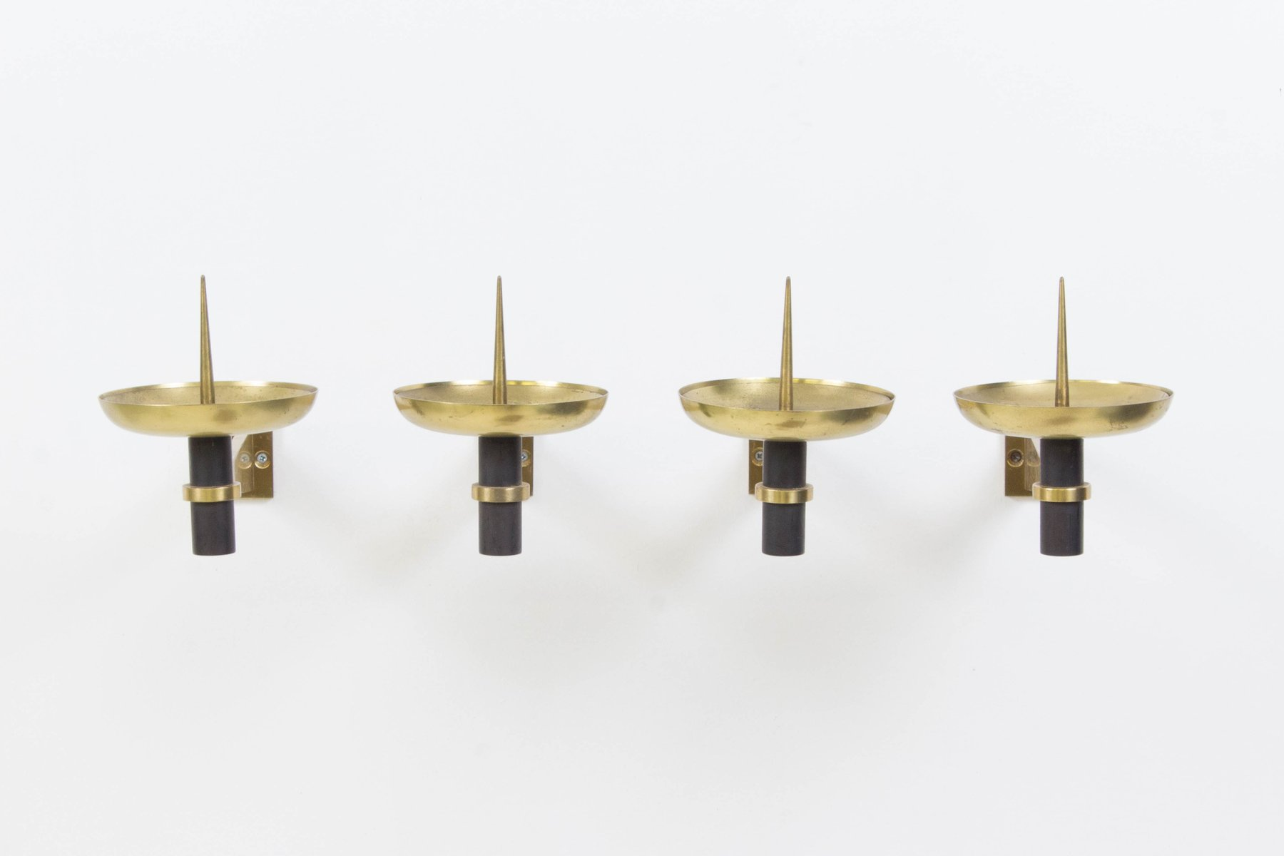Mid Century French Modern Wall Candle Sconces 1950s Set Of 4 For