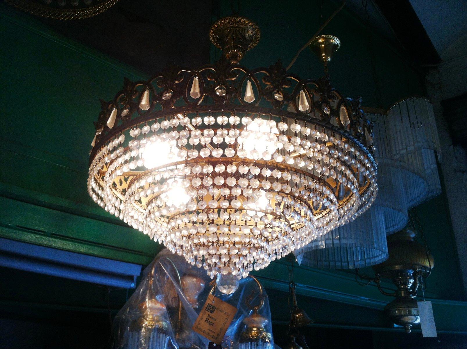 Fantastisch Österreichischer Vintage Swarovski Kristall Kronleuchter, 1980er