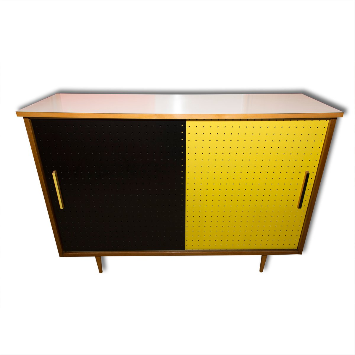 Mid-Century Cabinet with Sliding Doors from Interier Praha, 1960s ...