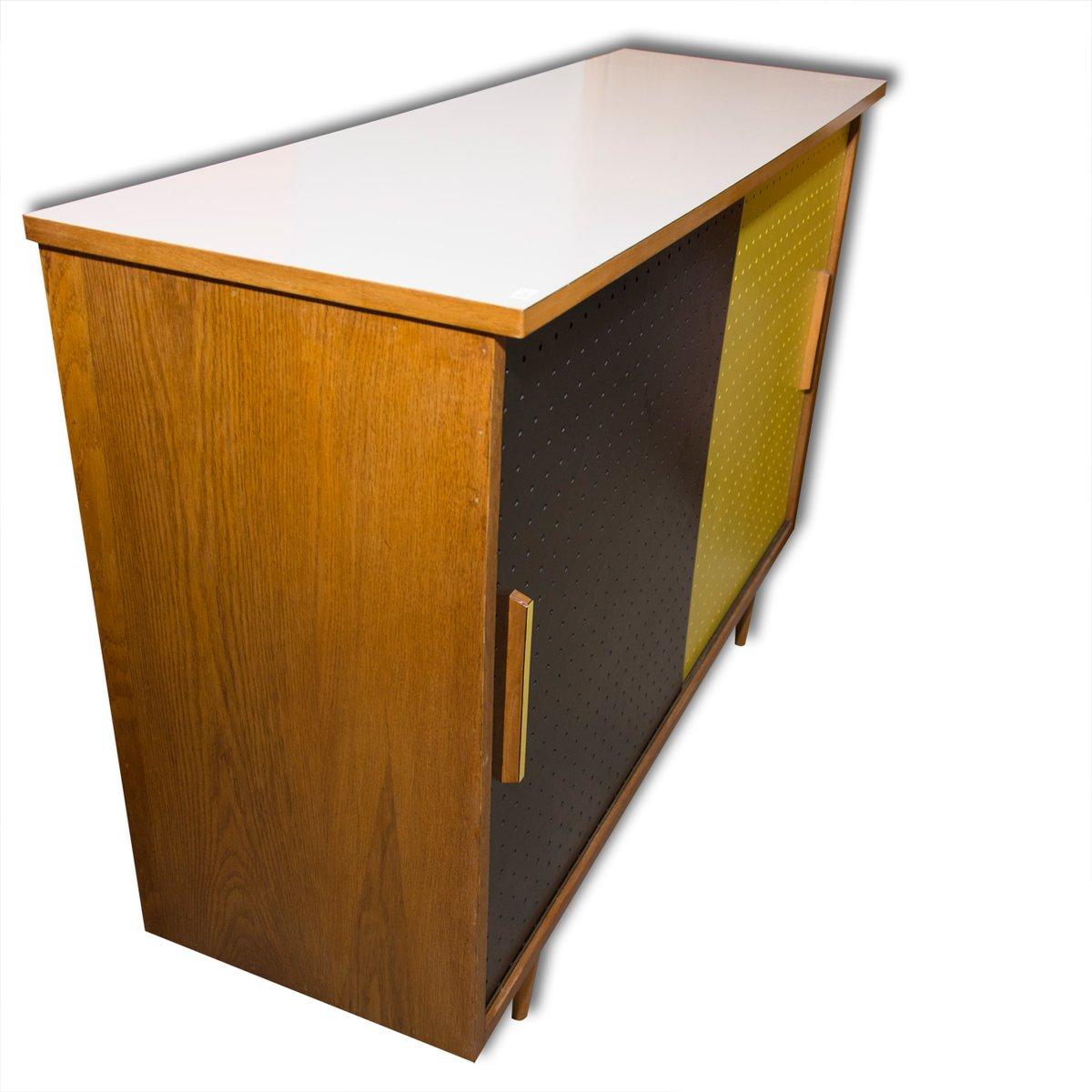 mid century schrank mit schiebet ren von interier praha 1960er bei pamono kaufen. Black Bedroom Furniture Sets. Home Design Ideas