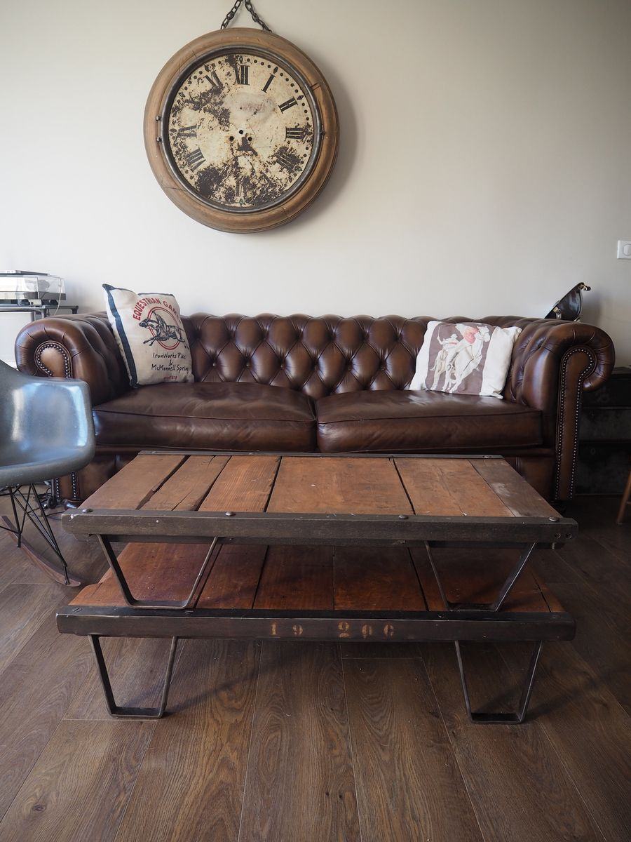 franz sischer industrieller paletten couchtisch 1950er bei pamono kaufen. Black Bedroom Furniture Sets. Home Design Ideas
