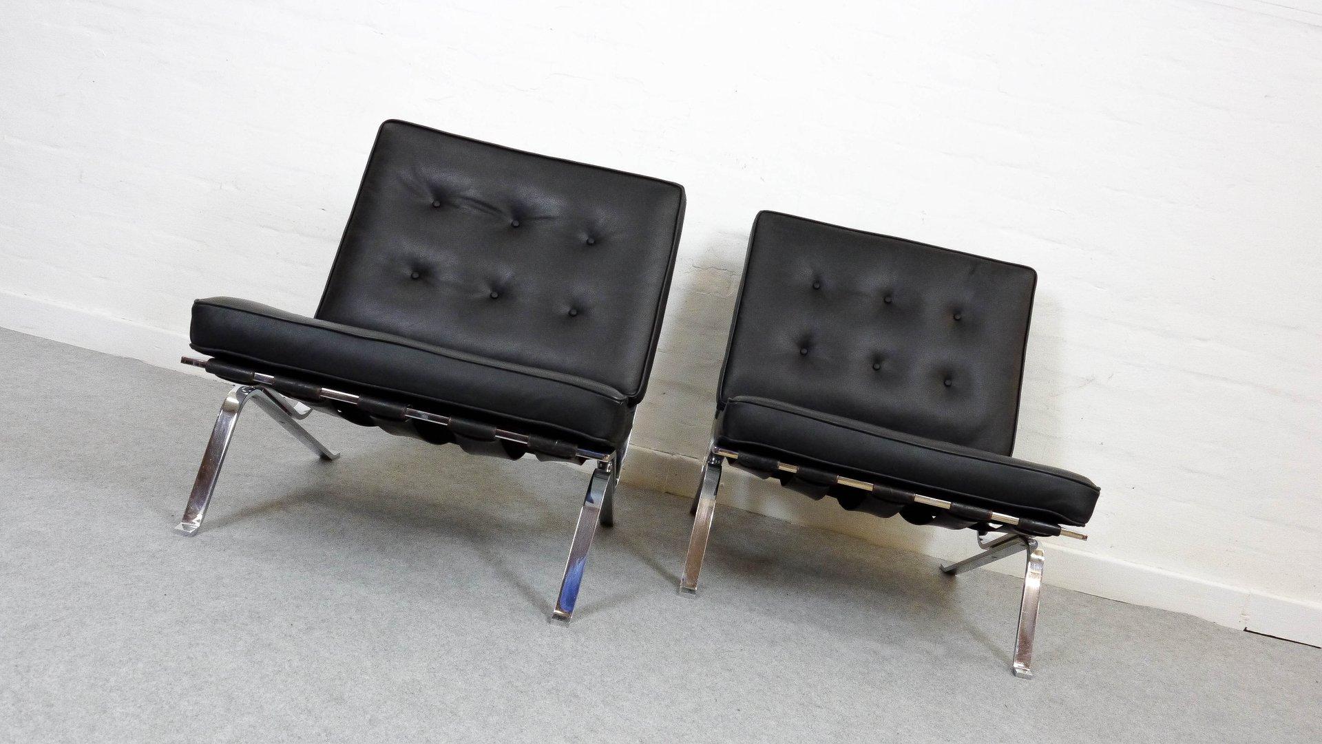 poltrone rh 301 vintage di robert hausmann per de sede set di 2 in vendita su pamono. Black Bedroom Furniture Sets. Home Design Ideas