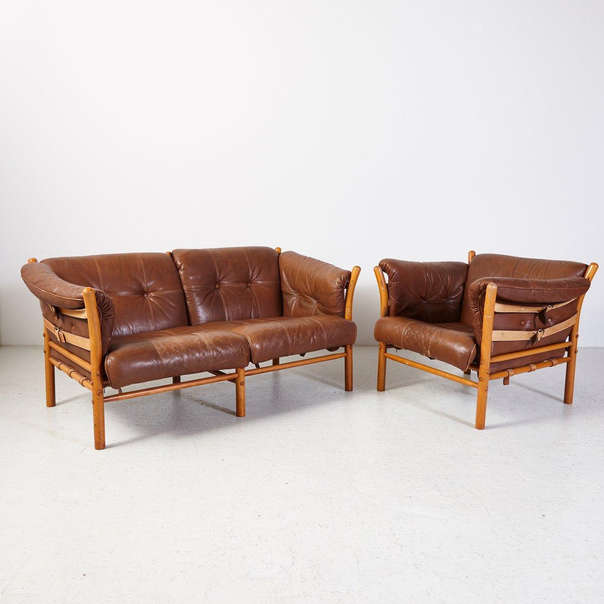 Vintage Ilona Sessel und Sofa von Arne Norell