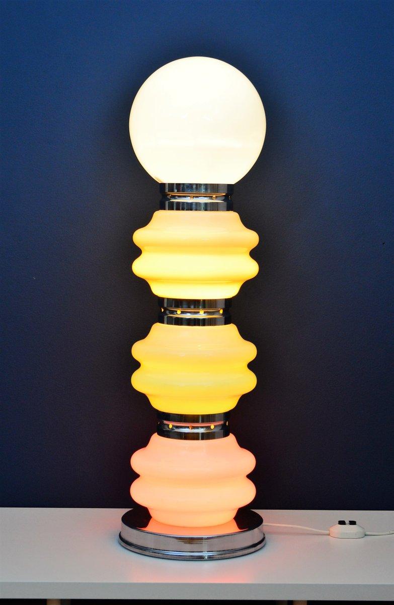 Skulpturale Space Age Glas Stehlampe von Mazzega, 1970er