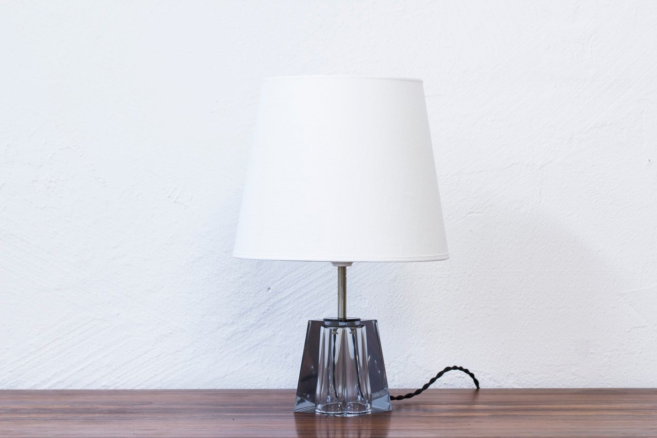 Mid Century Swedish Glass Table Lamp By Carl Fagerlund For Orrefors