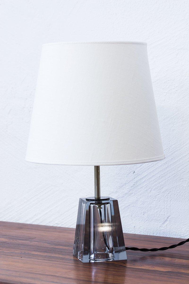 Lampada Da Tavolo Mid Century In Vetro Di Carl Fagerlund