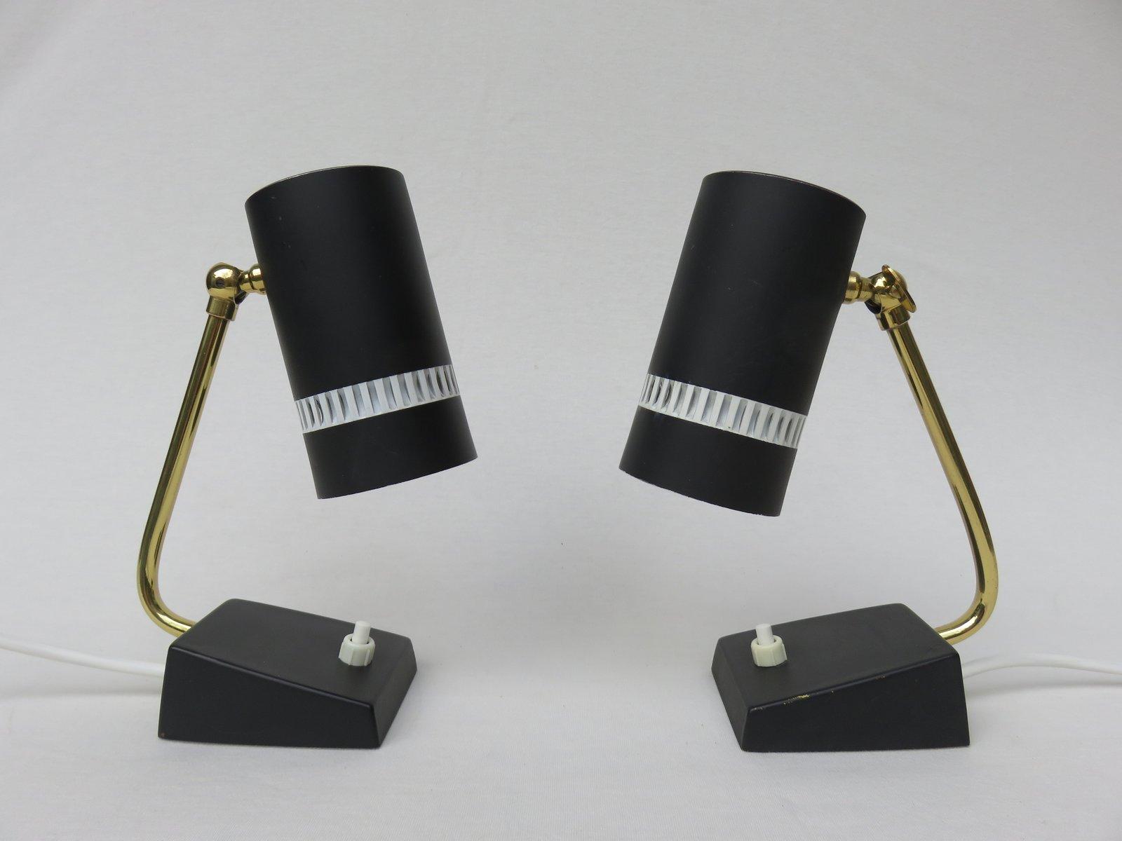 Mid-Century Nachtlampen, 1950er, 2er Set