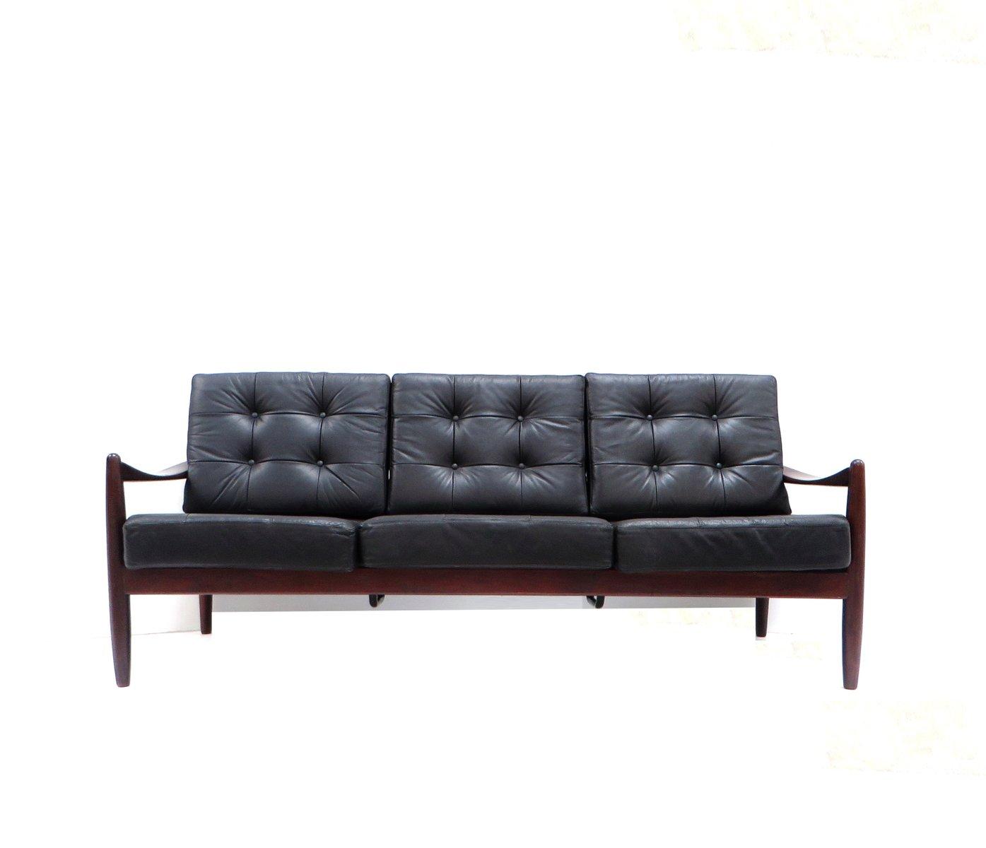 Danish Vintage 3 Seater Leather Sofa