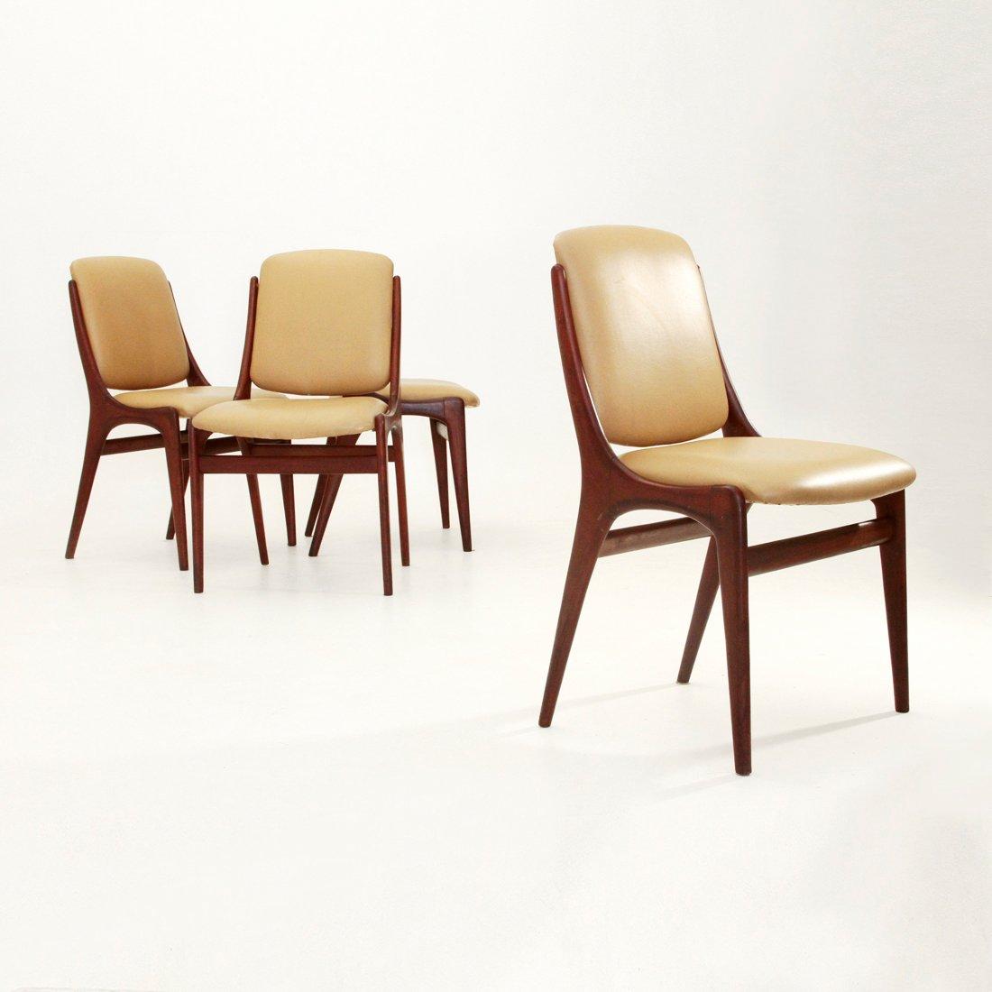 italienische mid century esszimmerst hle 1960er 4er set bei pamono kaufen. Black Bedroom Furniture Sets. Home Design Ideas
