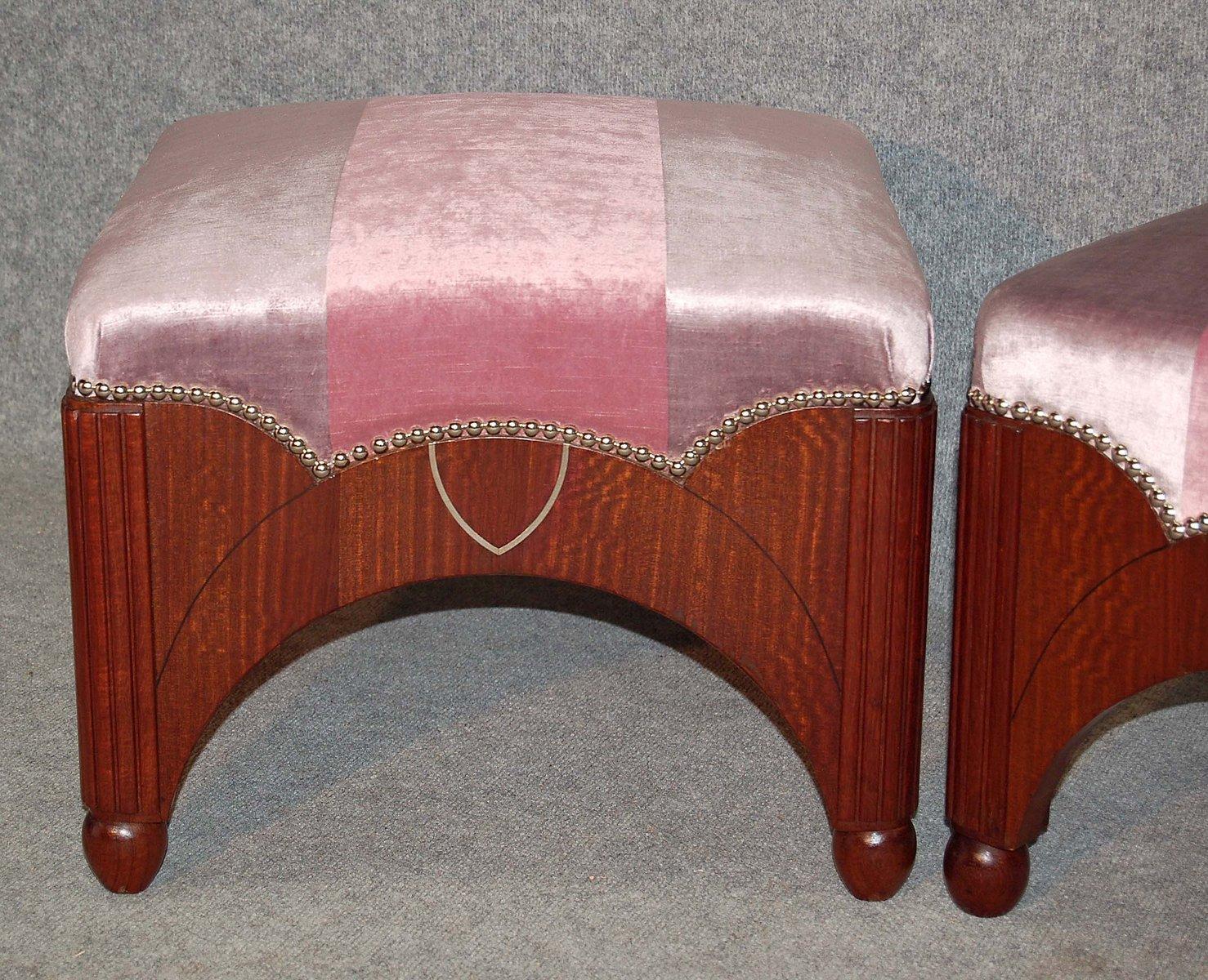 Sgabelli art deco rosa anni set di in vendita su pamono