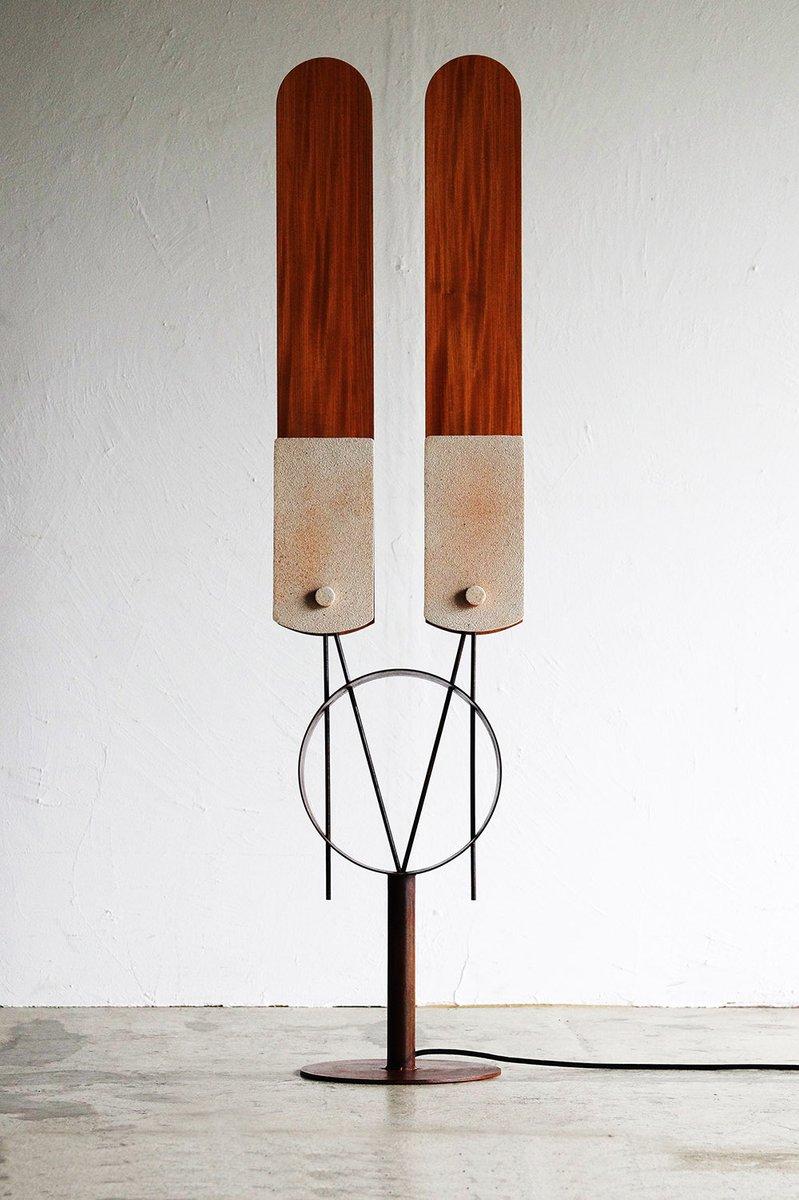 Japanische Funktionalistische Skulptur Twin Lights von Hamajima Takuya