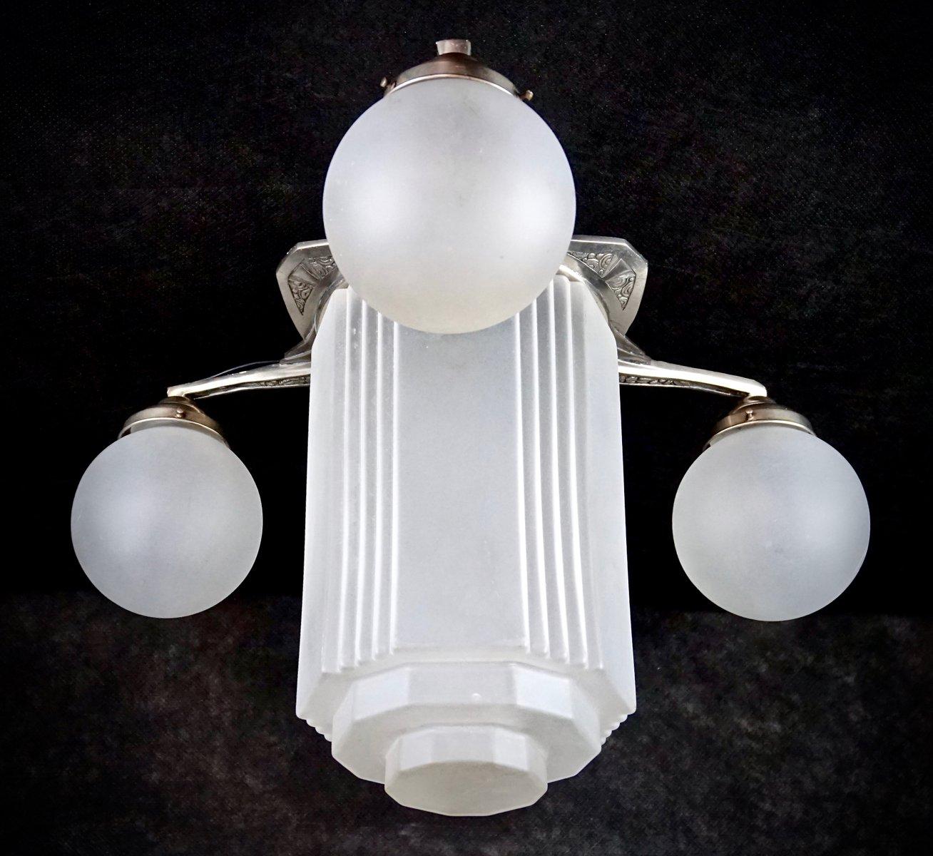Französische Art Deco Skyscraper Deckenlampe
