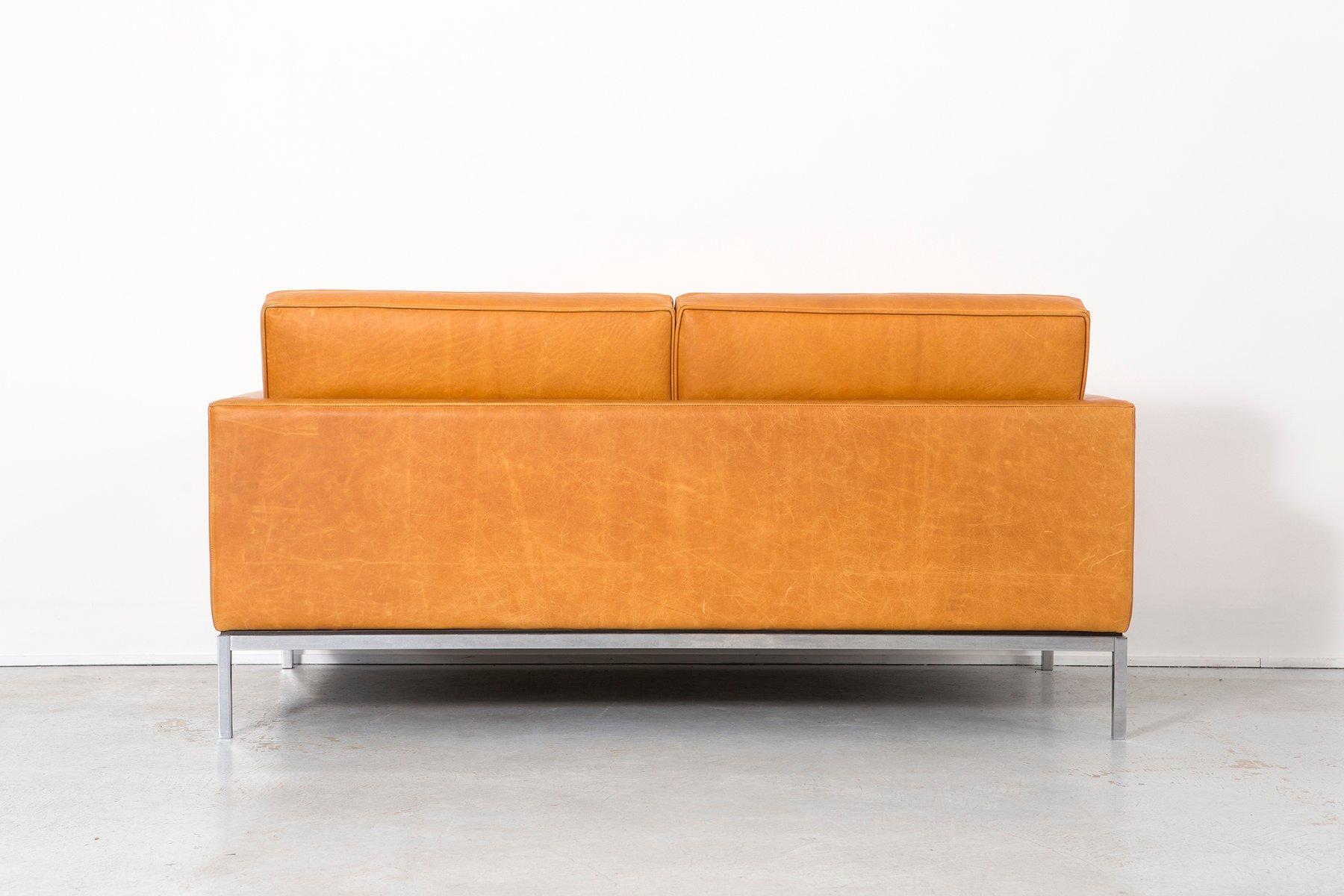 canap en cuir par florence knoll bassett pour knoll 1970s en vente sur pamono. Black Bedroom Furniture Sets. Home Design Ideas