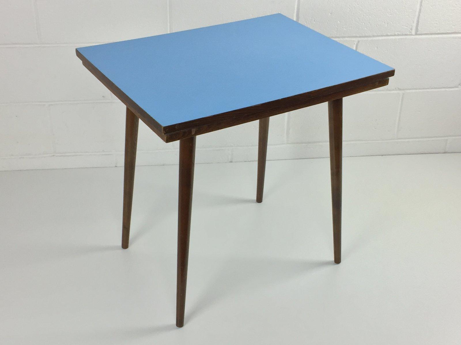 table basse mid century en h tre formica bleu de tatra nabytok r publique tch que en vente. Black Bedroom Furniture Sets. Home Design Ideas