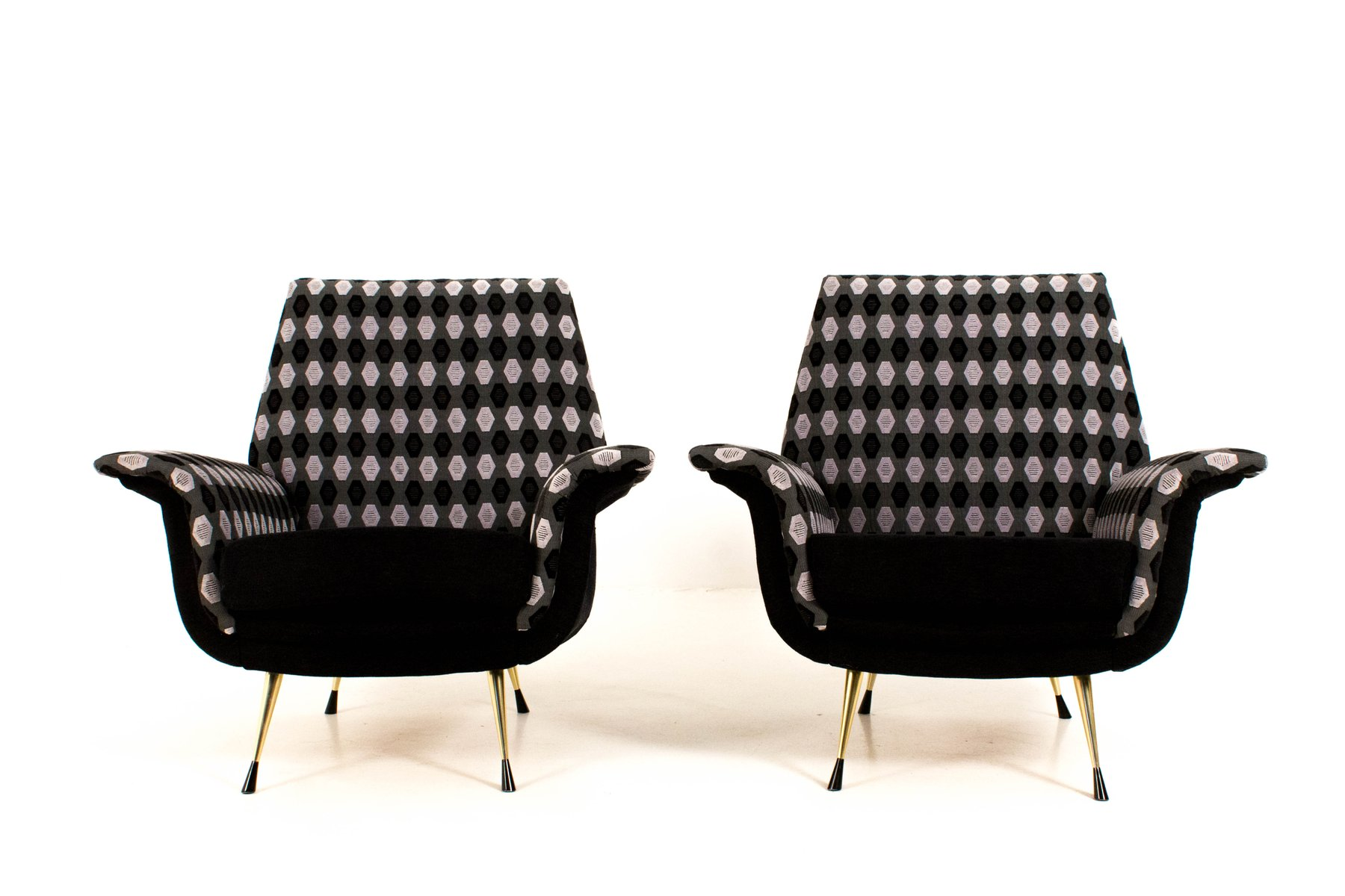 Italienische sessel 1960er 2er set bei pamono kaufen for Sessel italienisches design