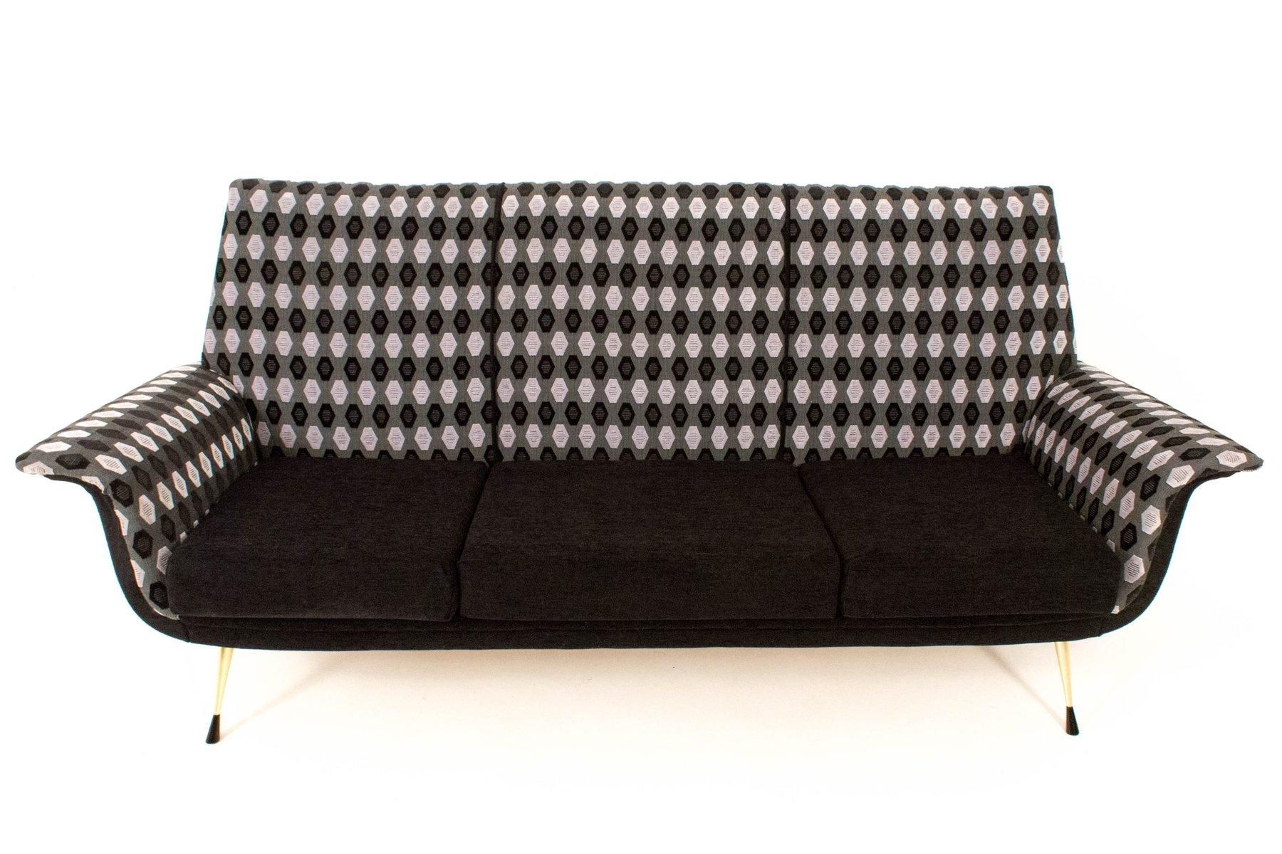 Italienisches Gemustertes Mid-Century Sofa, 1960er
