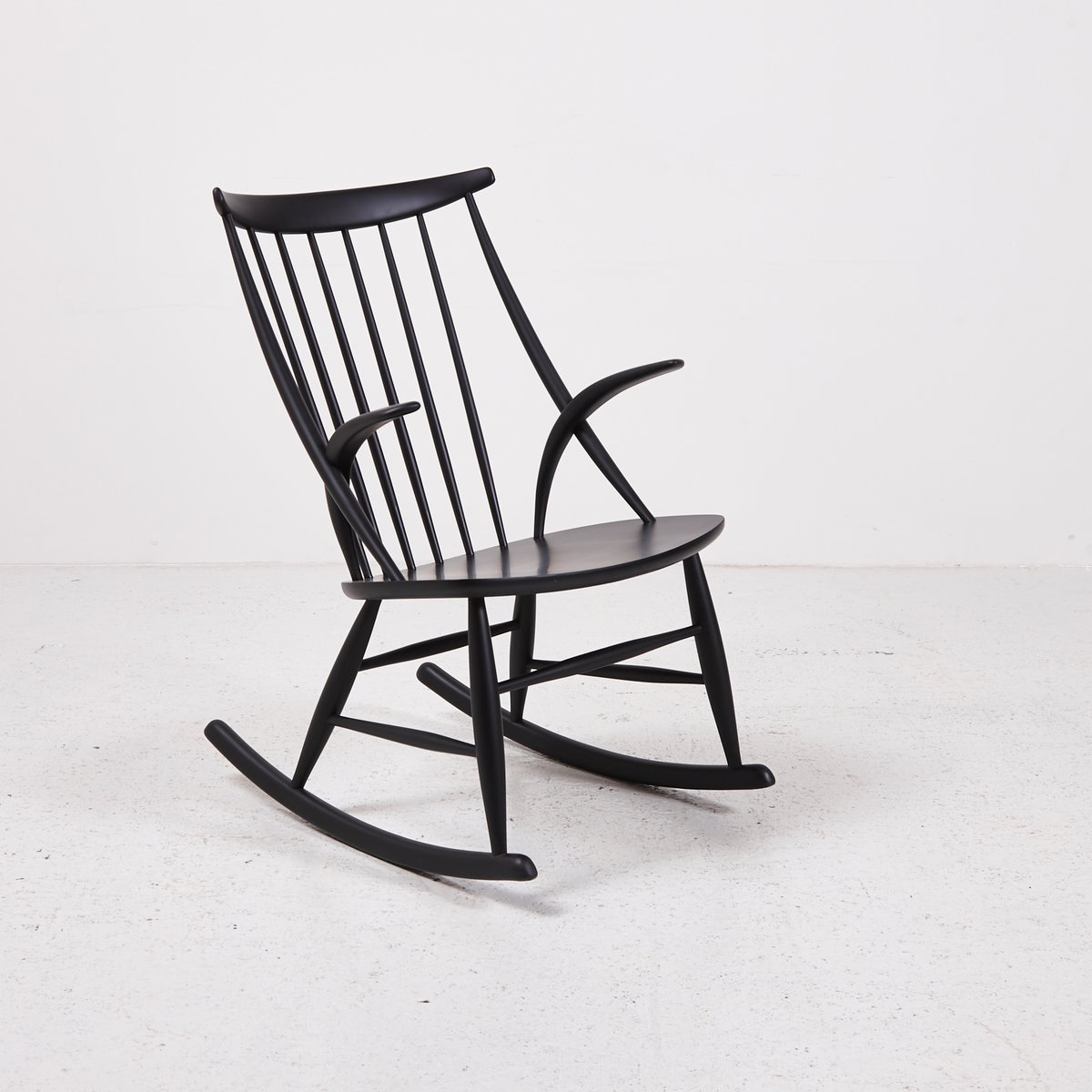 Iw3 Rocking Chair By Illum Wikkelso For Eilersen 1958