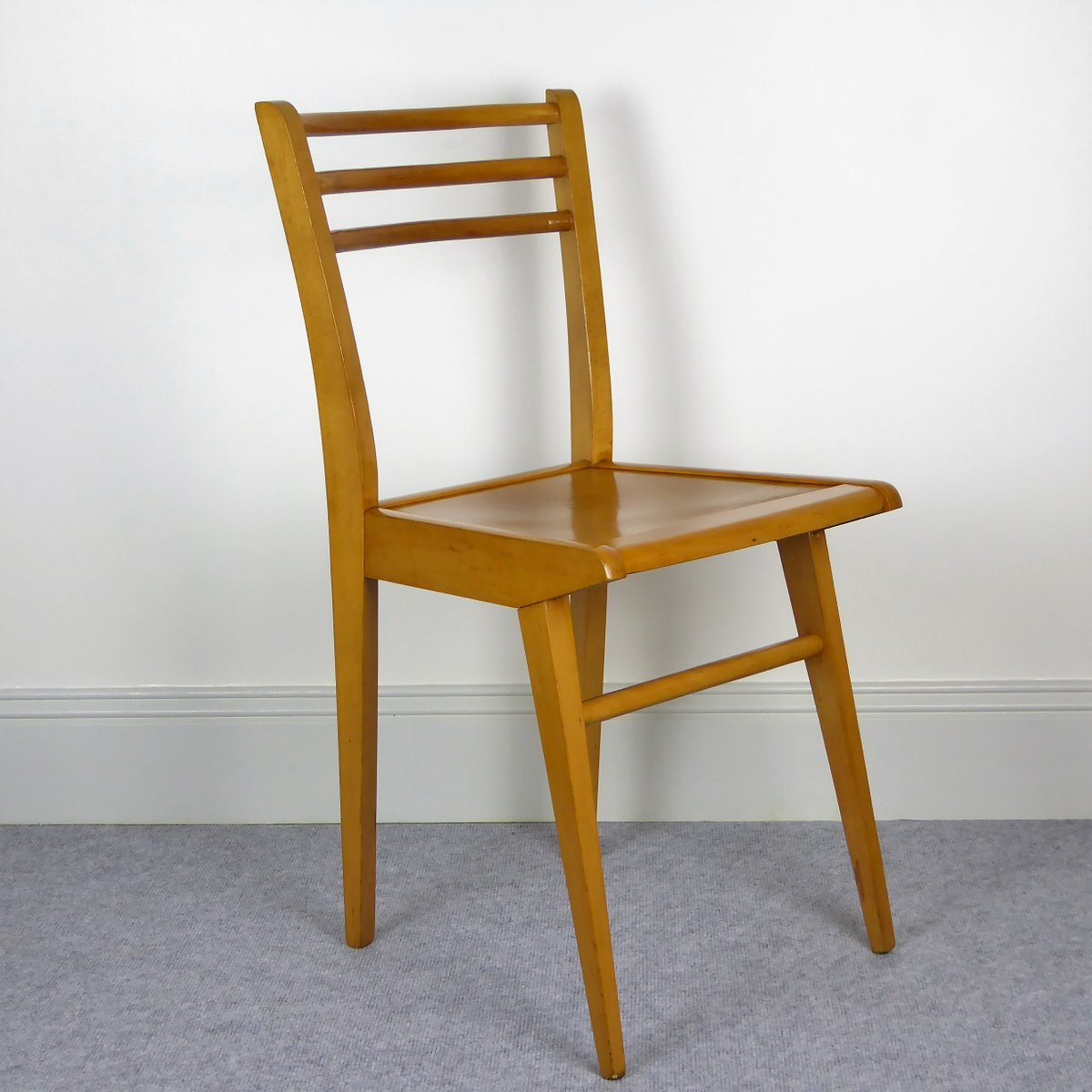 Beech Dining Chairs From Luterma 1950s Set Of 6 For Sale