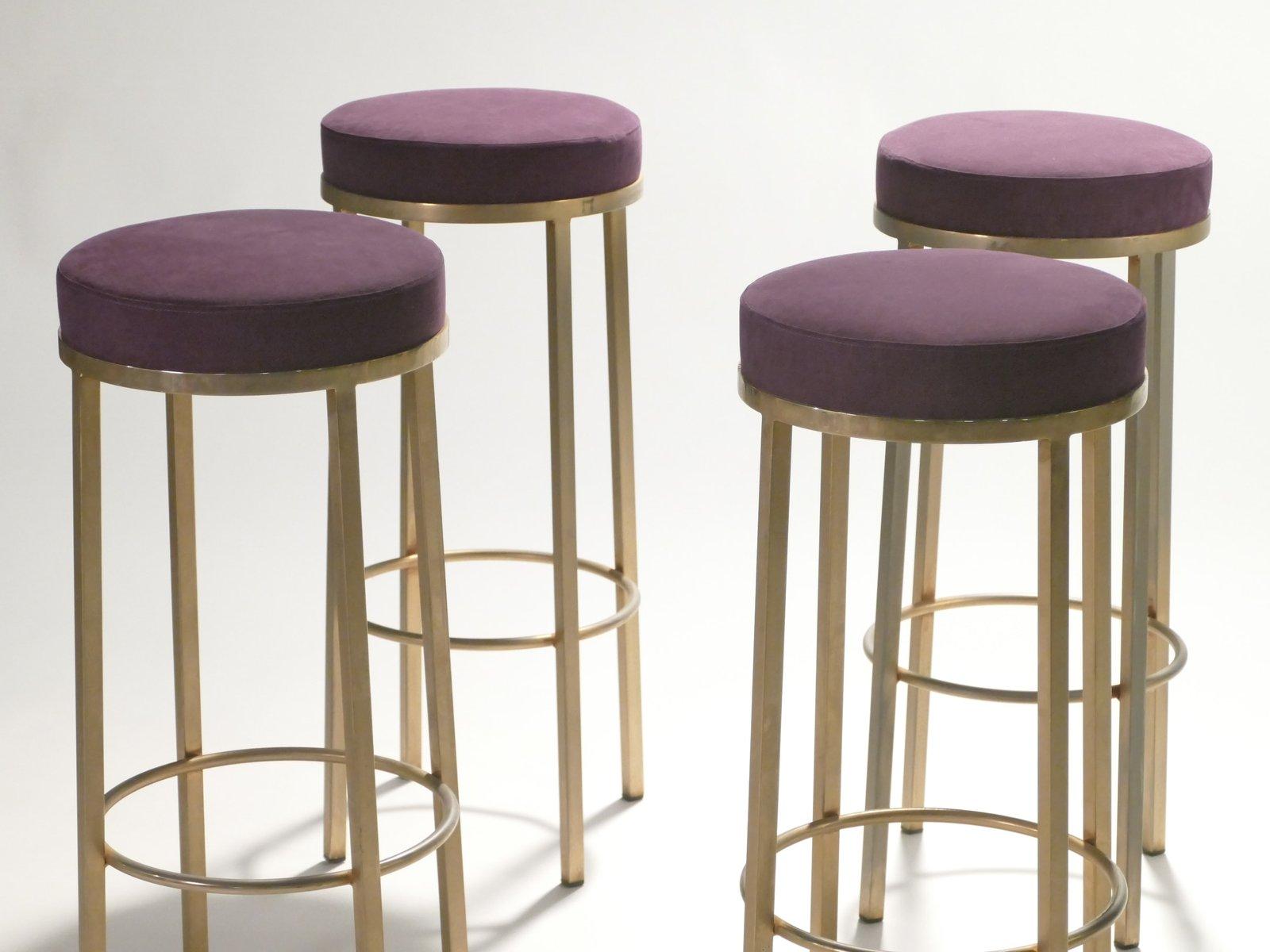 Sgabelli in ottone di maison romeo set di in vendita su pamono