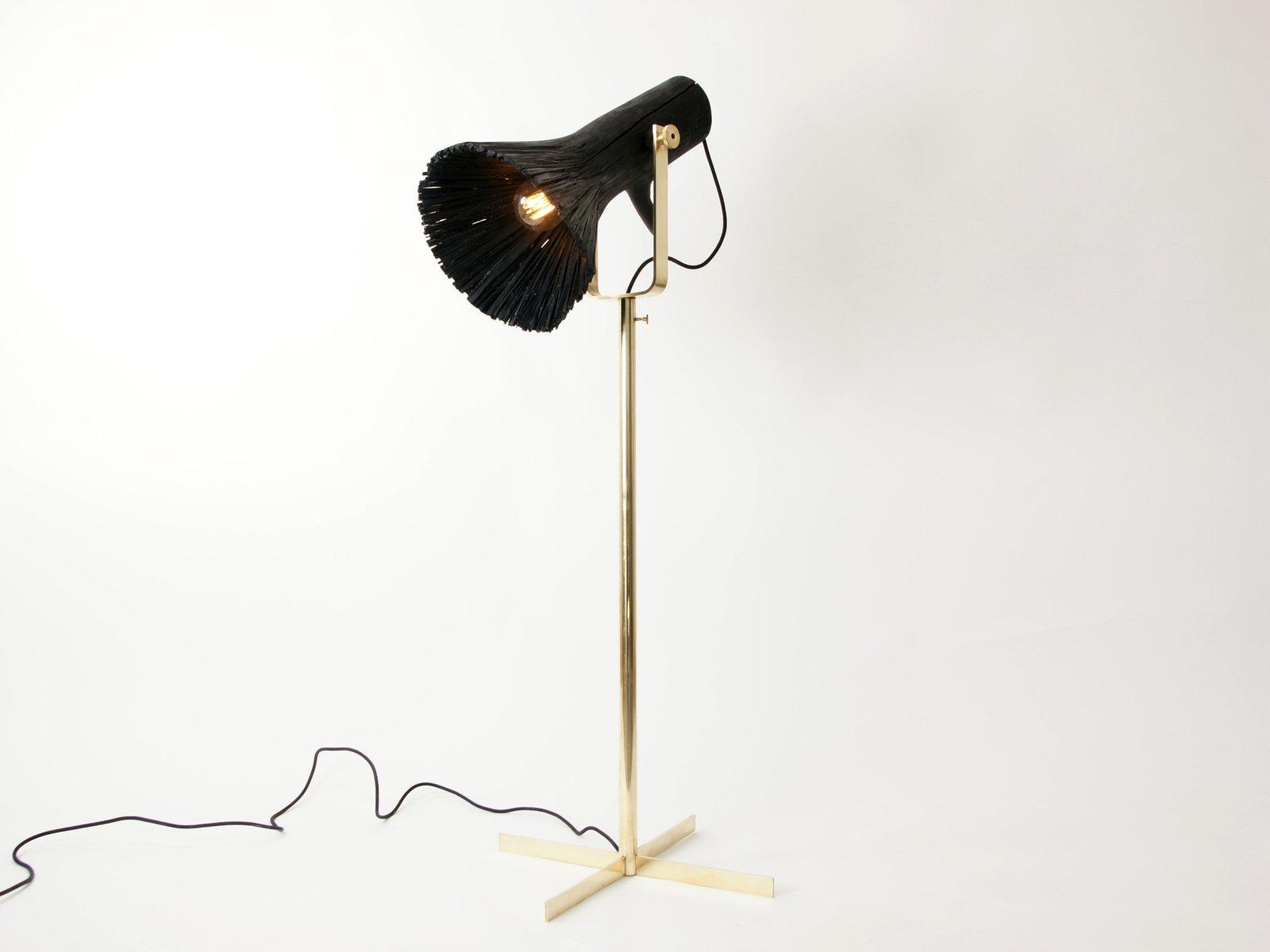 Pressed Wood Stehlampe von Johannes Hemann