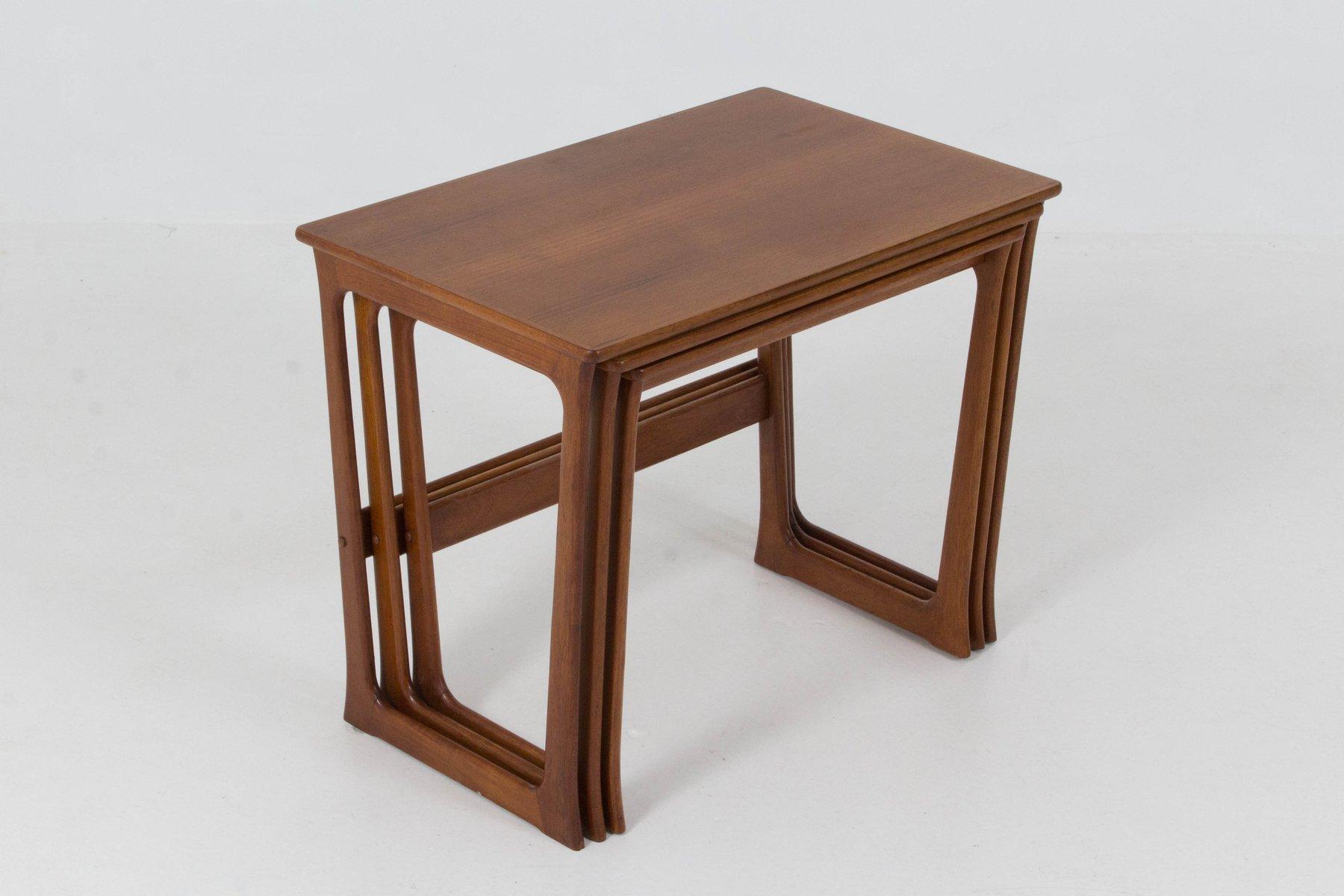 tables gigognes mid century moderne par johannes andersen danemark 1960s en vente sur pamono. Black Bedroom Furniture Sets. Home Design Ideas