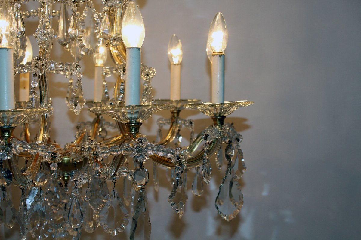 Kronleuchter Modern Jazz ~ Großer antiker wiener kristallglas kronleuchter von lobmeyr bei