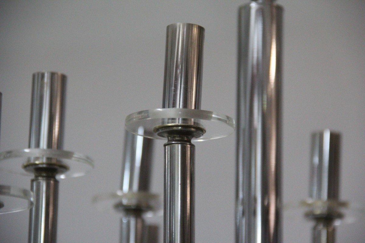 skulpturaler kronleuchter aus metall glas von gaetano sciolari 1970er bei pamono kaufen. Black Bedroom Furniture Sets. Home Design Ideas