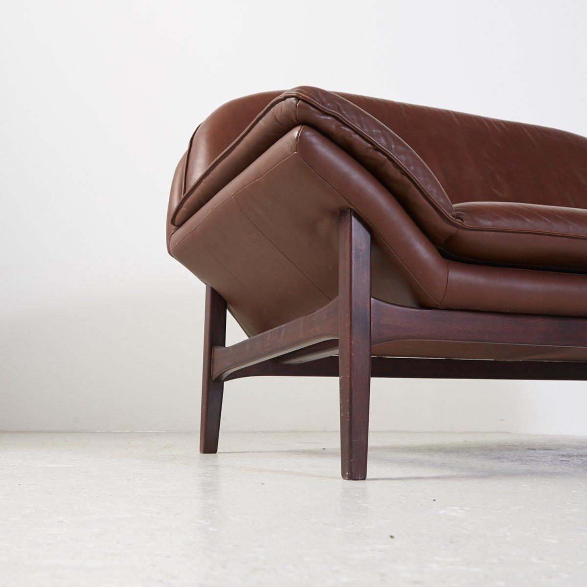 vintage 2 sitzer ledersofa bei pamono kaufen. Black Bedroom Furniture Sets. Home Design Ideas