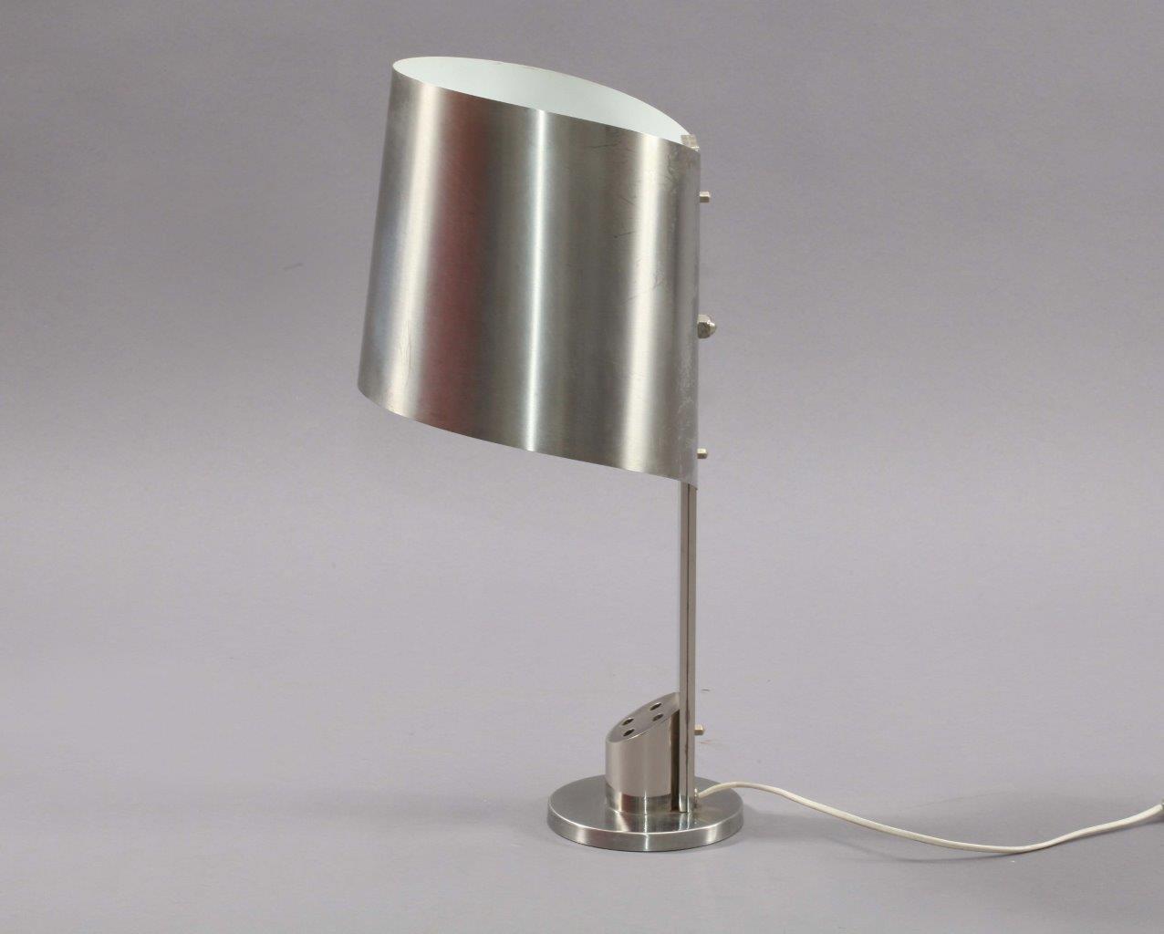 Schreibtischlampe aus Edelstahl von Maison Charles, 1970er