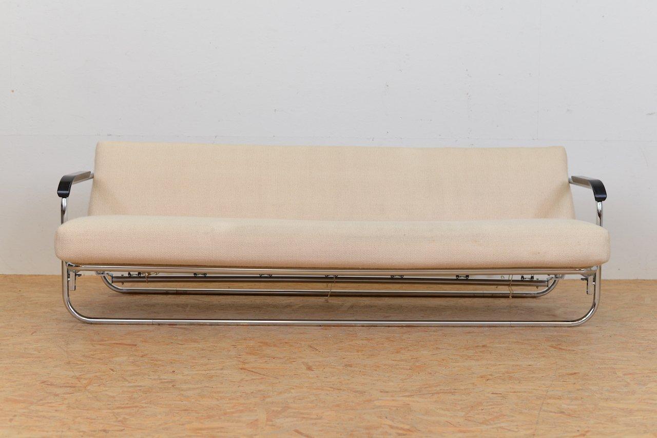 Vintage Schlafsofa mit Beigem Wollbezug von Alvar Aalto für Wohnbedarf