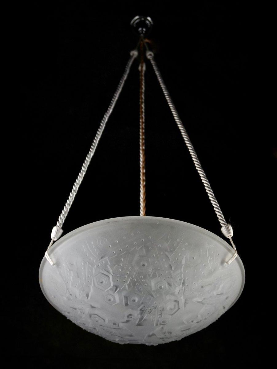 suspension art d co de m ller fr res france 1930s en vente sur pamono. Black Bedroom Furniture Sets. Home Design Ideas