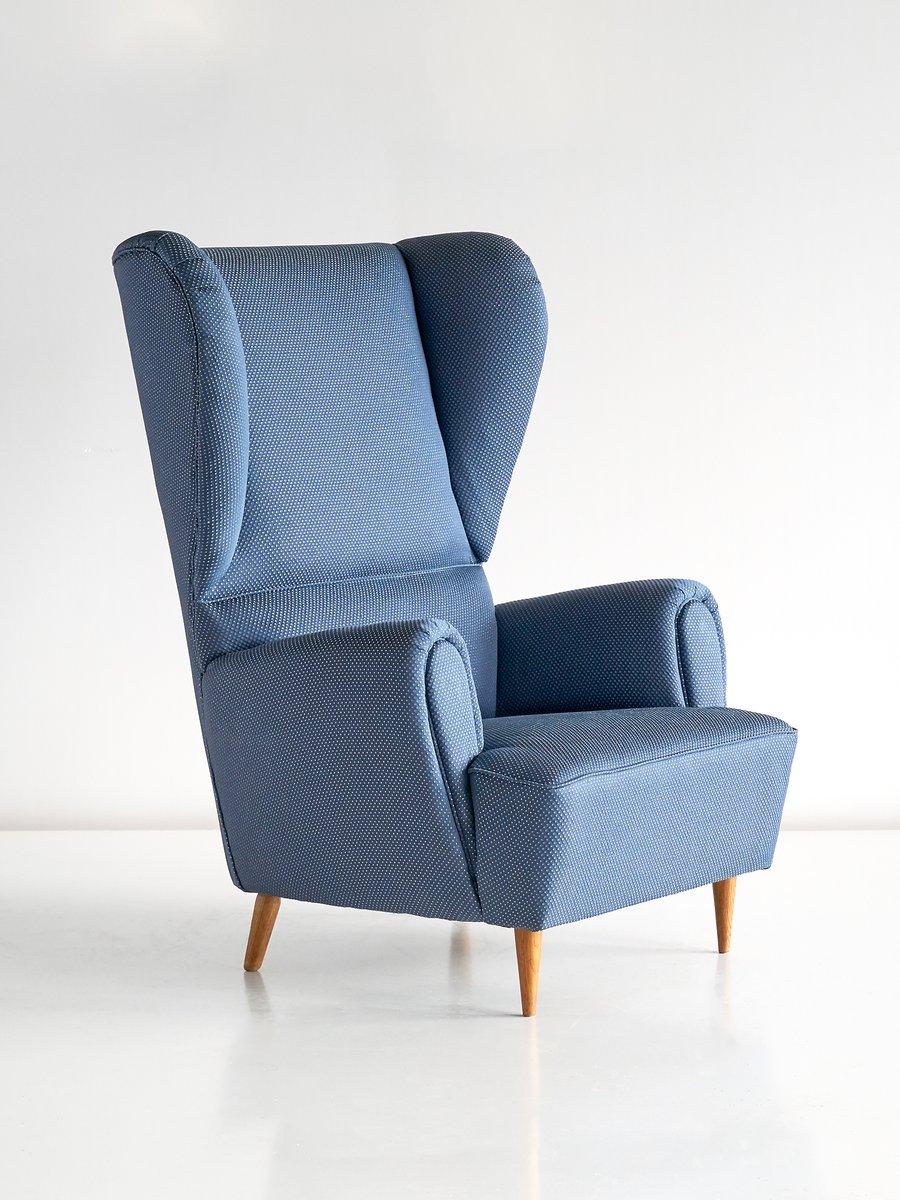 fauteuil oreilles vintage en tissu rubelli par paolo buffa 1940s en vente sur pamono. Black Bedroom Furniture Sets. Home Design Ideas